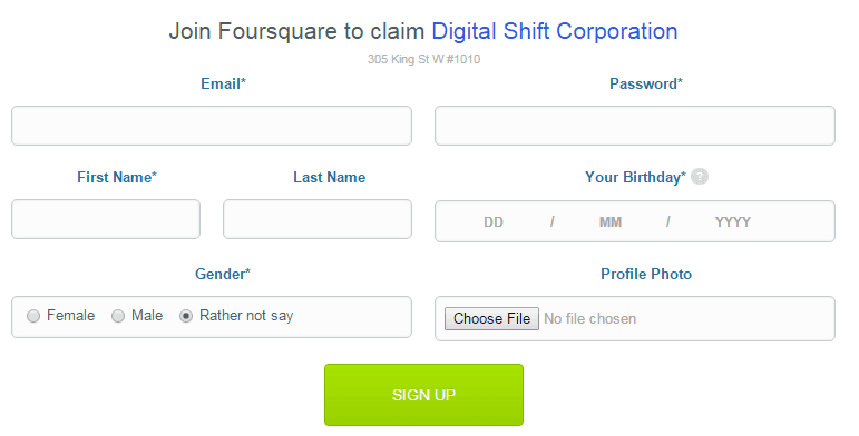Claim Business on Foursquare