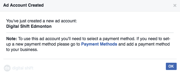 How To Create A Facebook Ad Account Step 4