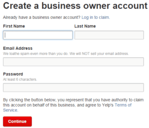 How to Create a Yelp Business Account